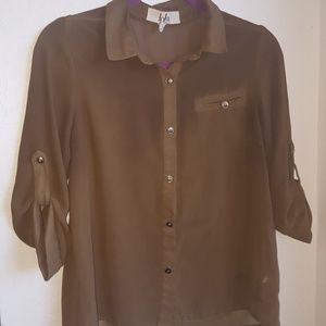 Olive Green 3/4 Blouse